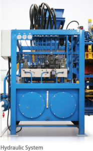 hydraulic system rt9 block making machine