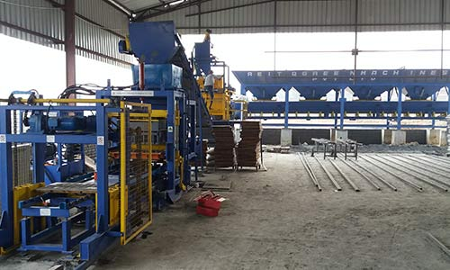 successful installation of paver block making machine