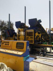 RT 6 new paver block machine intasalltion