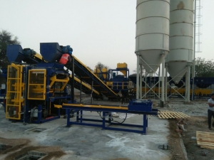 RT 6 Paver Concrete Block Machine Installed at Jaipur