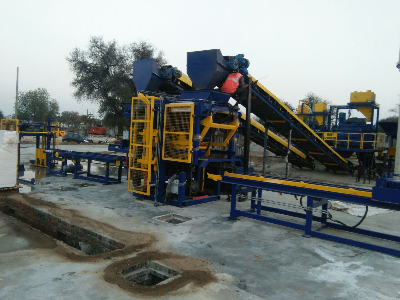 RT 6 Paver Concrete Machine Installed at Jaipur