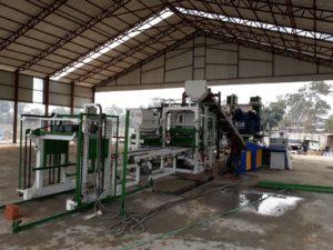 successful paver block machine installation in india