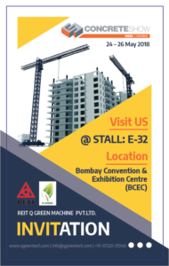 Q Green Techcon Participate In Concrete Show India